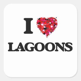 I Love Lagoons Square Sticker