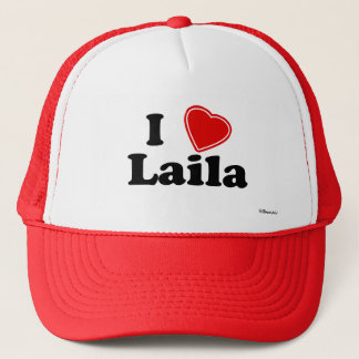 I Love Laila Trucker Hat