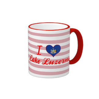 I Love Lake Luzerne, New York Coffee Mugs