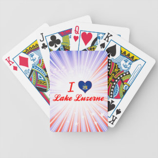 I Love Lake Luzerne, New York Bicycle Playing Cards