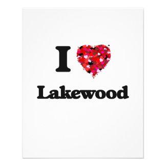 I love Lakewood Colorado 11.5 Cm X 14 Cm Flyer