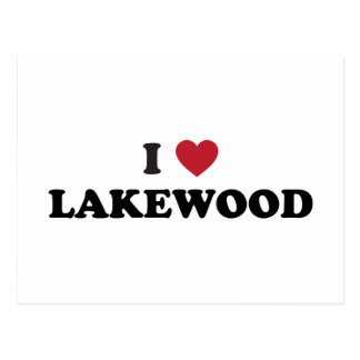 I Love Lakewood Colorado Postcard