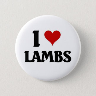 I love lambs 6 cm round badge