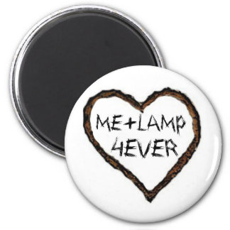 I love lamp 6 cm round magnet