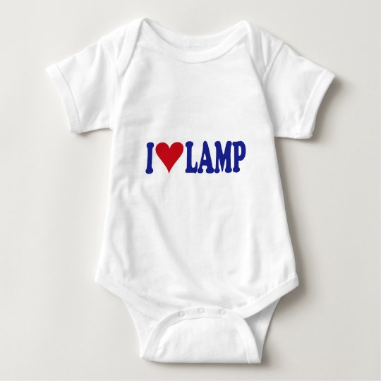 I Love Lamp Baby Bodysuit