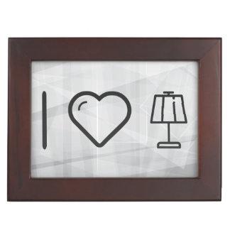 I Love Lamps Memory Box