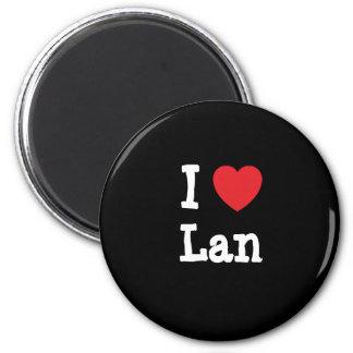 I love Lan heart T-Shirt Magnet