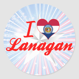 I Love Lanagan Missouri Round Sticker