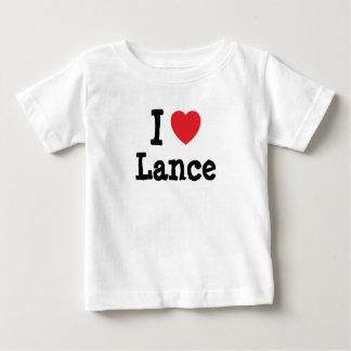 I love Lance heart custom personalized Tshirts
