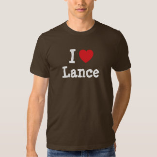 I love Lance heart custom personalized Tshirt