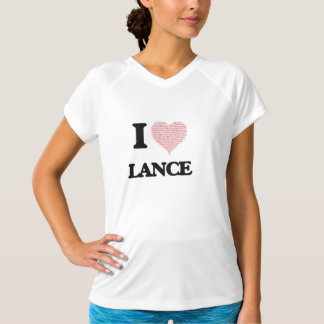 I Love Lance (Heart Made from Love words) T Shirts