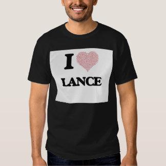 I Love Lance (Heart Made from Love words) Tee Shirt