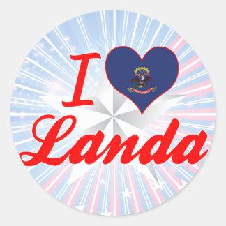 I Love Landa, North Dakota Sticker