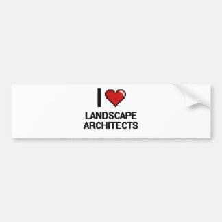 I love Landscape Architects Car Bumper Sticker