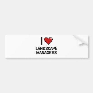 I love Landscape Managers Bumper Sticker