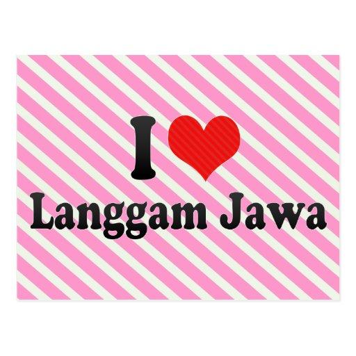 I Love Langgam Jawa Post Cards