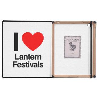 i love lantern festivals iPad folio case