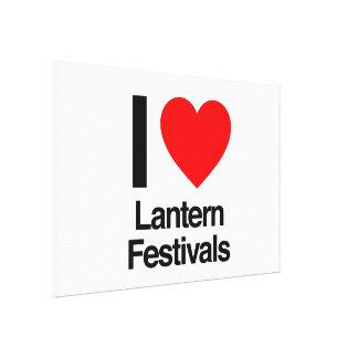 i love lantern festivals gallery wrap canvas