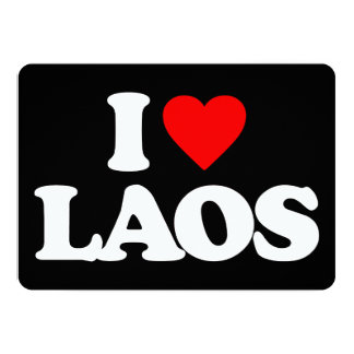 I LOVE LAOS 13 CM X 18 CM INVITATION CARD