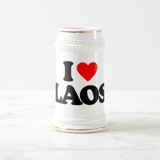 I LOVE LAOS BEER STEINS