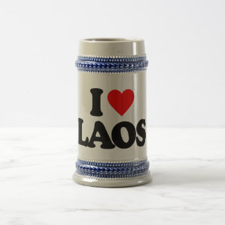 I LOVE LAOS 18 OZ BEER STEIN