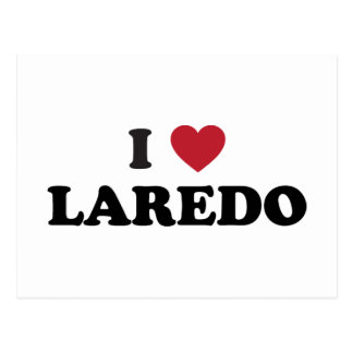 I Love Laredo Texas Postcard