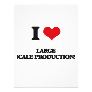I Love Large Scale Productions Custom Flyer
