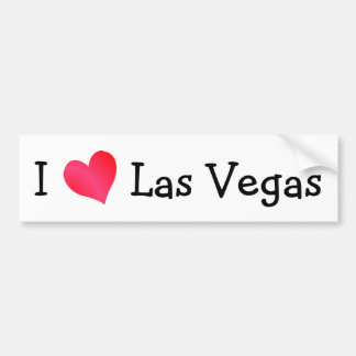 I Love Las Vegas Bumper Sticker