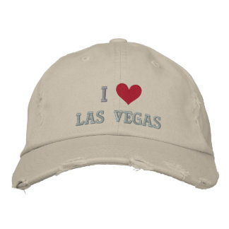 I LOVE LAS VEGAS -- NEVADA -- EMBROIDERED! EMBROIDERED CAP