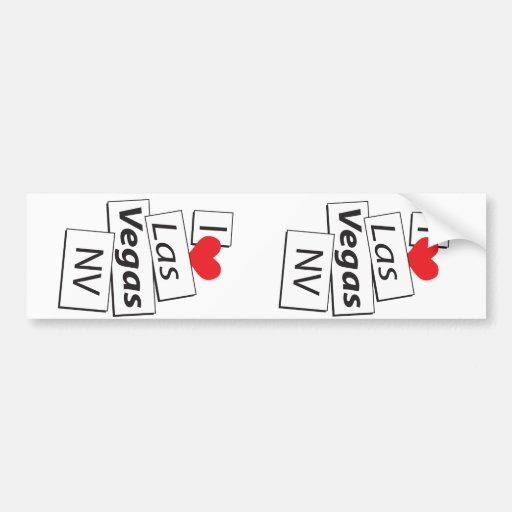 I Love Las Vegas NV Bumper Sticker