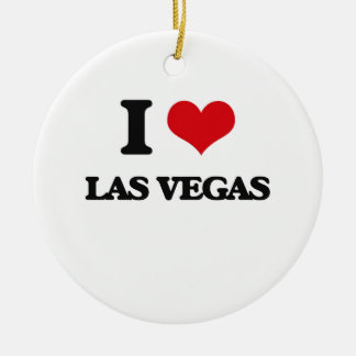 I love Las Vegas Round Ceramic Decoration