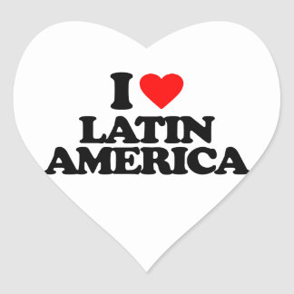 I LOVE LATIN AMERICA HEART STICKER