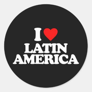 I LOVE LATIN AMERICA STICKERS