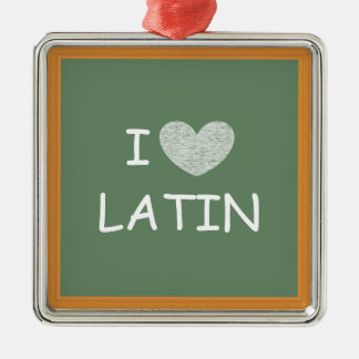 I Love Latin Christmas Ornament