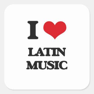 I Love LATIN MUSIC Square Sticker