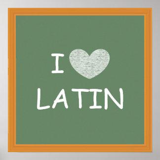 I Love Latin Poster