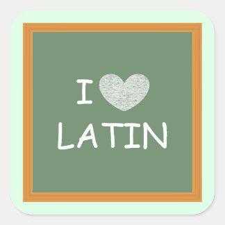 I Love Latin Square Sticker