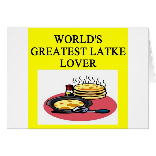 i love latkes! card