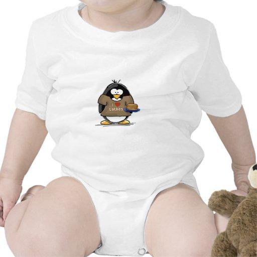 I Love Latkes Penguin Shirts