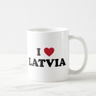 I Love Latvia Basic White Mug