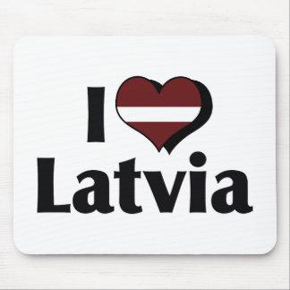 I Love Latvia Flag Mouse Pad