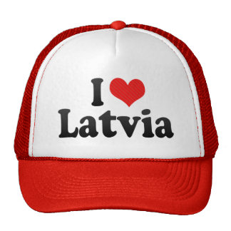 I Love Latvia Mesh Hat