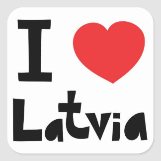 I love Latvia Square Sticker