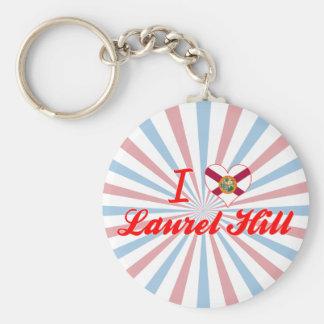 I Love Laurel Hill, Florida Keychain