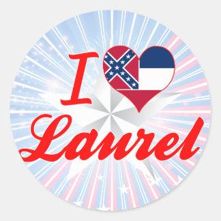 I Love Laurel, Mississippi Round Stickers