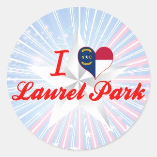 I Love Laurel Park, North Carolina Round Sticker
