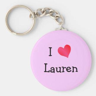 I Love Lauren Key Ring