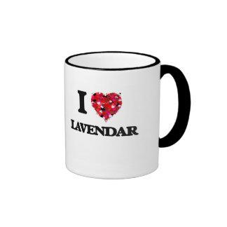 I love Lavendar New Jersey Ringer Mug