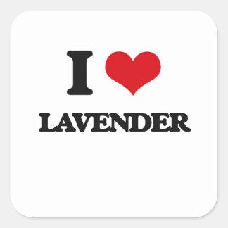I Love Lavender Square Sticker
