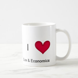 I Love Law & Economics Mug
